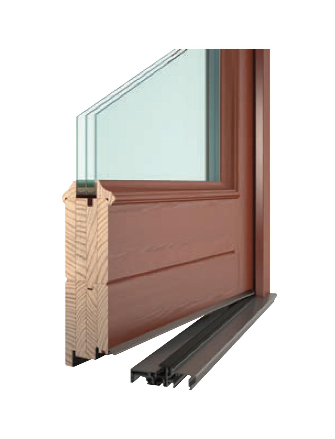 Dřevěné a dřevohliníkové dveře